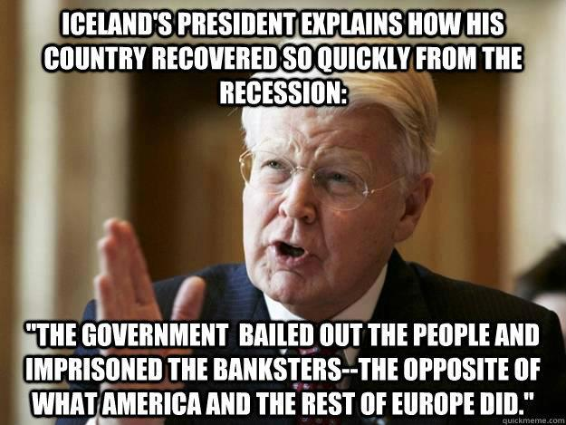 Iceland jailed the bankers who neglected their responsibilities and abused their privileges