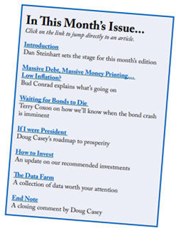 The Casey Report table of contents
